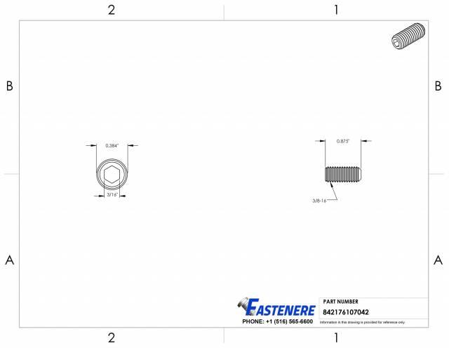 "QTY 25 5//16/""-18 Socket Set Grub Screw Cone Point 18-8 Stainless Steel Screws"