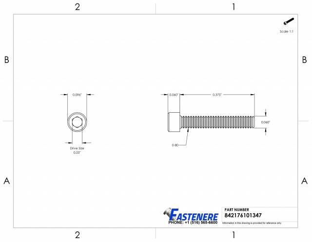 18-8 Stainless Steel Thread Size 1//2-13 Socket Head Screw