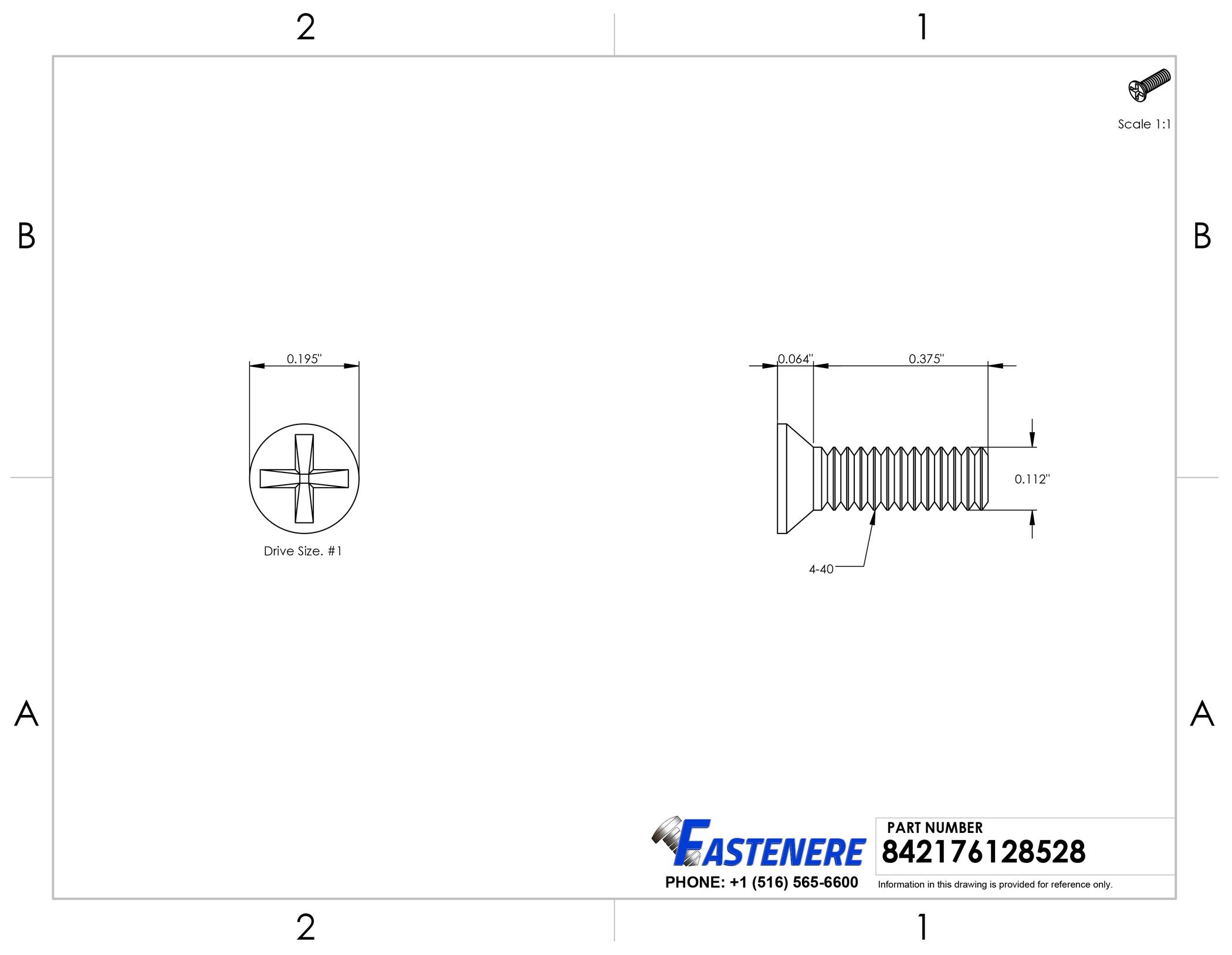 Stainless Steel 18-8 4-40 x 1-3//4 Flat Head Machine Screws Bright Finish Quantity 100 by Fastenere Full Thread Machine Thread Phillips Drive